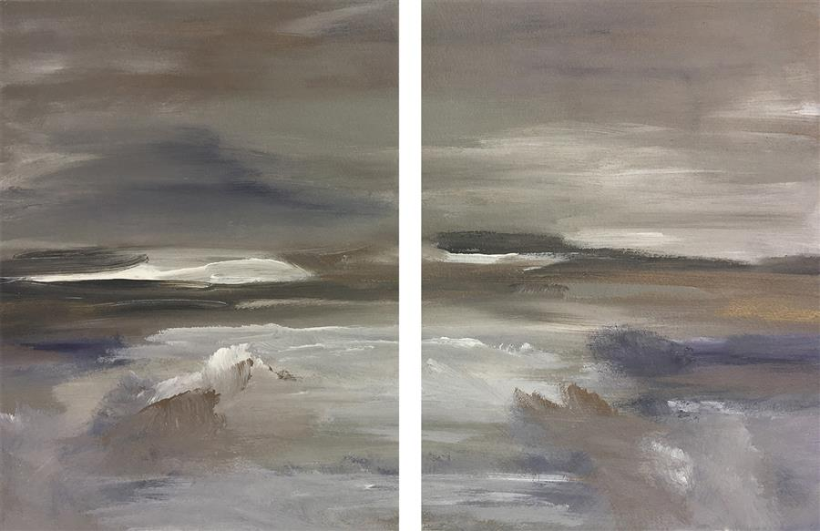 Original art for sale at UGallery.com | Merismos (Diptych XII) by Michele Morata | $475 | oil painting | 12' h x 18' w | ..\art\oil-painting-Merismos-Diptych-XII