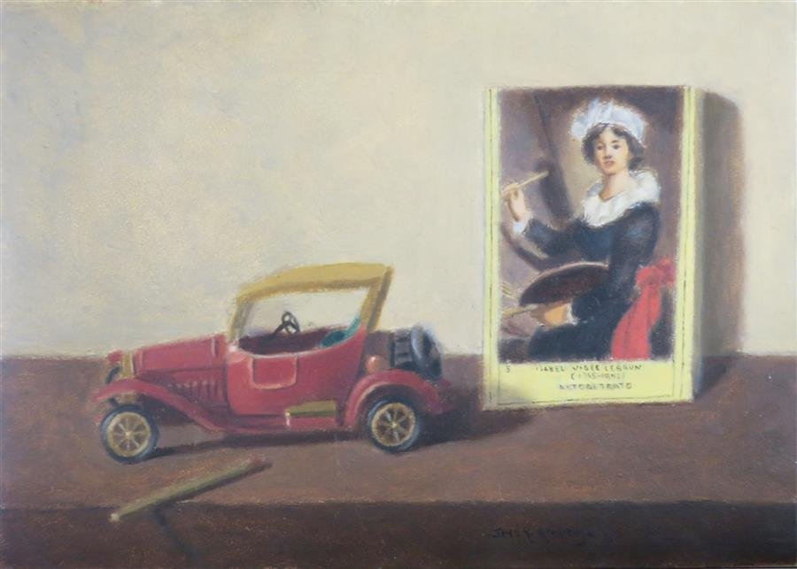 Original art for sale at UGallery.com | Matchbox by JOSE H. ALVARENGA | $350 |  | 5' h x 7' w | ..\art\oil-painting-Matchbox
