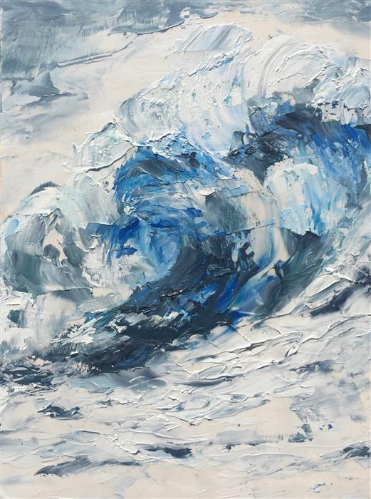 Original art for sale at UGallery.com | Sea Swirl by Tiffany Blaise | $425 | oil painting | 10' h x 8' w | ..\art\oil-painting-Sea-Swirl