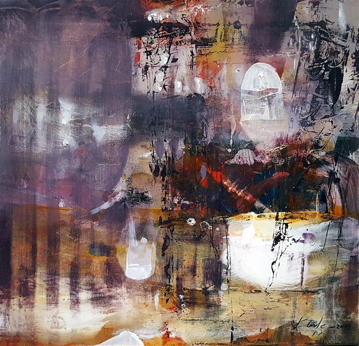 Original art for sale at UGallery.com | Ancient Gate by Kloska Ovidiu | $700 | acrylic painting | 20' h x 20' w | ..\art\acrylic-painting-Ancient-Gate