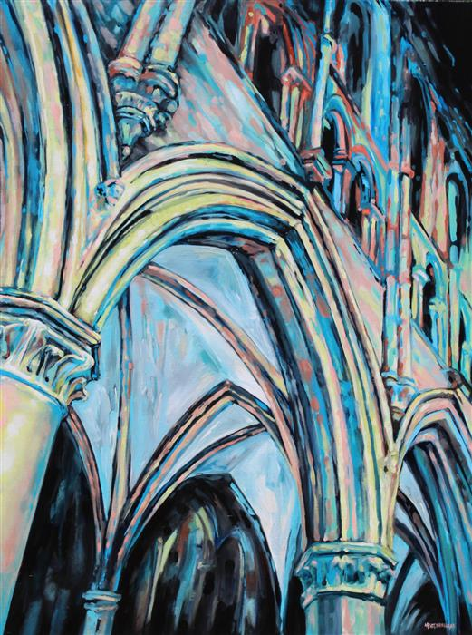 Original art for sale at UGallery.com | From Below - Arches and Arches by Marie-Eve Champagne | $1,275 | acrylic painting | 40' h x 30' w | ..\art\acrylic-painting-From-Below-Arches-and-Arches