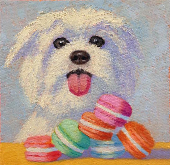 Original art for sale at UGallery.com | Macarons by PAT DOHERTY | $475 |  | 8' h x 8' w | ..\art\oil-painting-Macarons