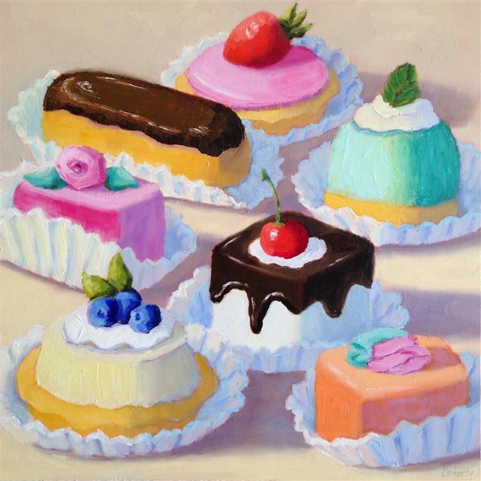 Original art for sale at UGallery.com | Sweet Choices by PAT DOHERTY | $650 |  | 12' h x 12' w | ..\art\oil-painting-Sweet-Choices