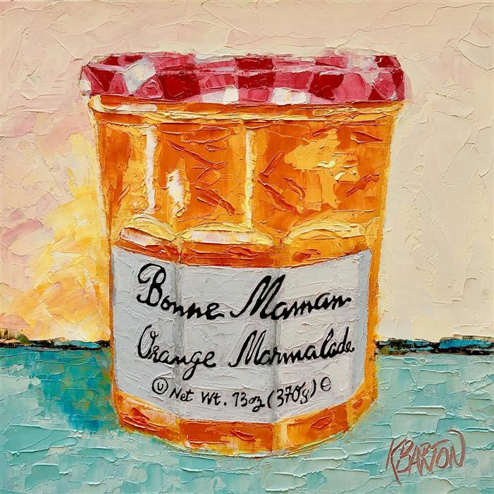 Original art for sale at UGallery.com | Bonne Maman Delight by Karen Barton | $375 | oil painting | 8' h x 8' w | ..\art\oil-painting-Bonne-Maman-Delight