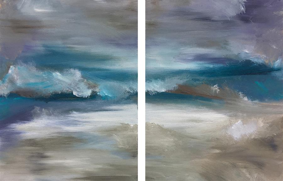 Original art for sale at UGallery.com | Merismos (Diptych XIV) by Michele Morata | $475 | oil painting | 12' h x 18' w | ..\art\oil-painting-Merismos-Diptych-XIV