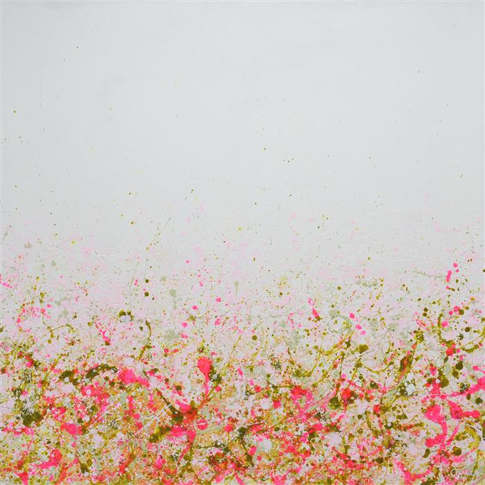 Original art for sale at UGallery.com | Pretty in Pink by LISA CARNEY | $1,900 |  | 36' h x 36' w | ..\art\acrylic-painting-Pretty-in-Pink