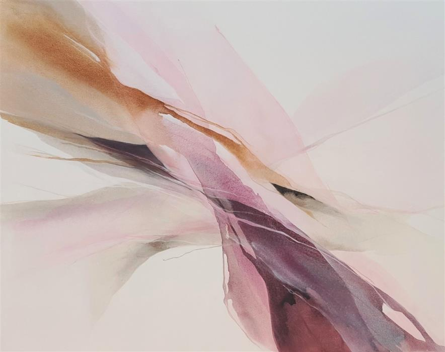 Original art for sale at UGallery.com | Pink Whisper by Dorothy Dunn | $2,775 | acrylic painting | 40' h x 50' w | ..\art\acrylic-painting-Pink-Whisper