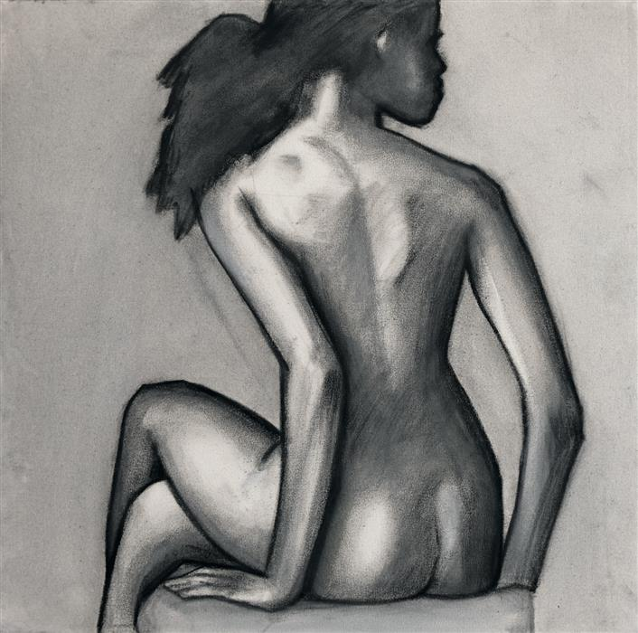Original art for sale at UGallery.com | Untitled 12 by WREN MEYERS | $650 |  | 24' h x 24' w | ..\art\charcoal-drawing-Untitled-12