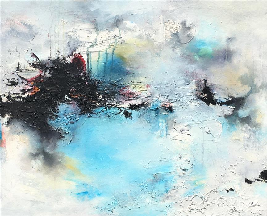 Original art for sale at UGallery.com | Tide Pool by Nicholas Kriefall | $1,925 | oil painting | 24' h x 30' w | ..\art\oil-painting-Tide-Pool