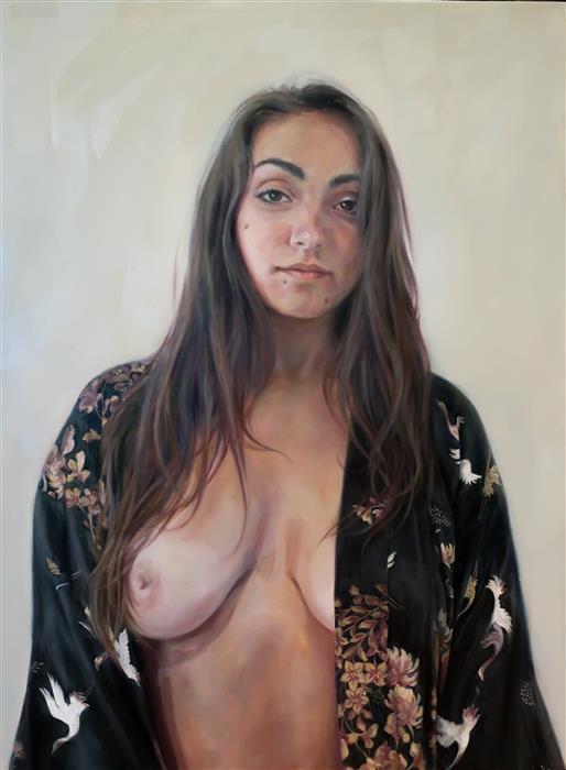 Original art for sale at UGallery.com | Av by Camilla Marie Dahl | $3,400 | oil painting | 32' h x 24' w | ..\art\oil-painting-Av