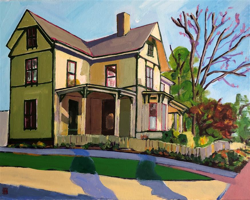 Original art for sale at UGallery.com | The House on Blount Street by Laura (Yi Zhen) Chen | $550 | acrylic painting | 16' h x 20' w | ..\art\acrylic-painting-The-House-on-Blount-Street
