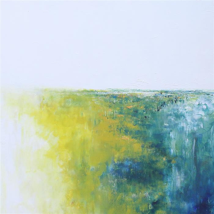 Original art for sale at UGallery.com | Flowers in the Mist by Ruth LaGue | $3,800 | acrylic painting | 36' h x 36' w | ..\art\acrylic-painting-Flowers-in-the-Mist