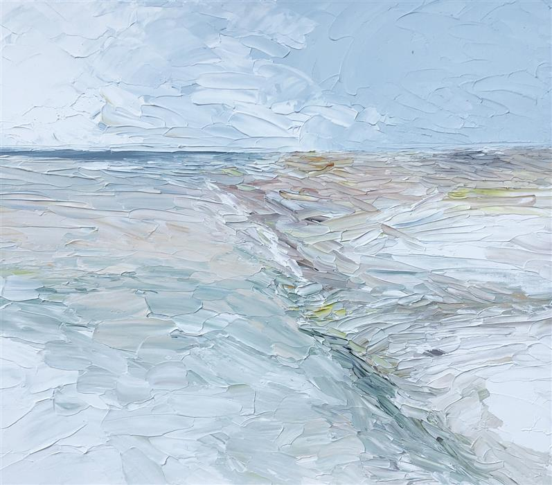 Original art for sale at UGallery.com | Pathway to the Ocean by Ruth LaGue | $700 | acrylic painting | 20' h x 24' w | ..\art\acrylic-painting-Pathway-to-the-Ocean