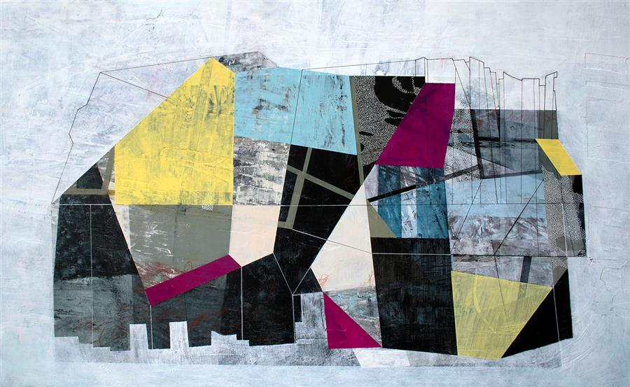 Original art for sale at UGallery.com | Never Expect an Interior by Linnie Brown | $1,875 | mixed media artwork | 24' h x 39' w | ..\art\mixed-media-artwork-Never-Expect-an-Interior