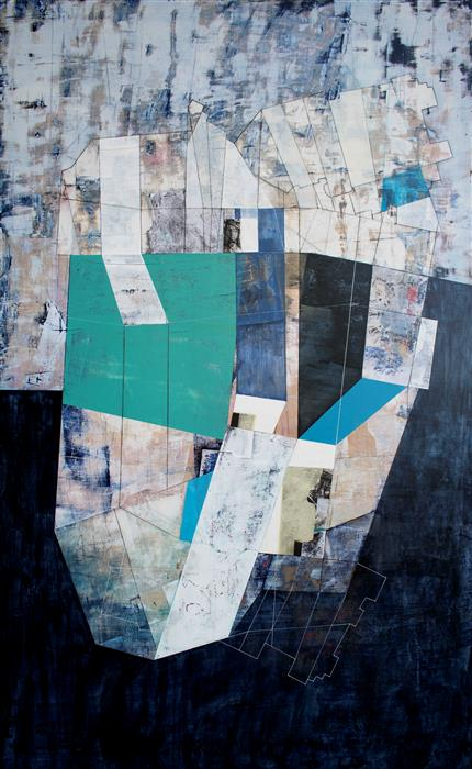 Original art for sale at UGallery.com | Leaving in Place by Linnie Brown | $4,000 | mixed media artwork | 52' h x 32' w | ..\art\mixed-media-artwork-Leaving-in-Place