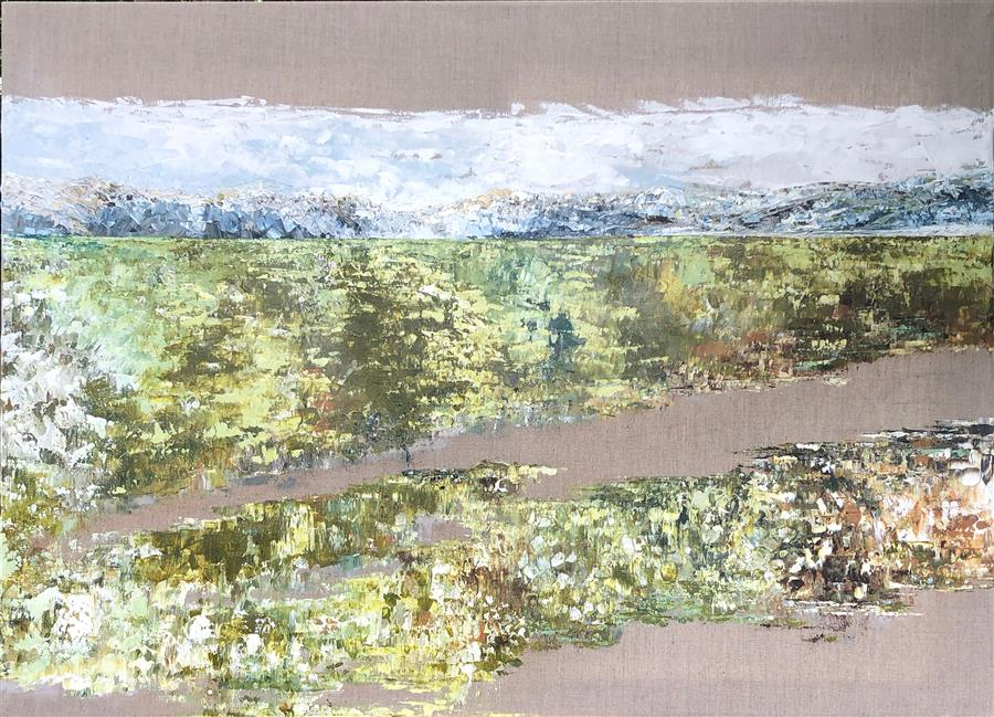 Original art for sale at UGallery.com | The Valley by Ruth LaGue | $4,600 | acrylic painting | 36' h x 48' w | ..\art\acrylic-painting-The-Valley
