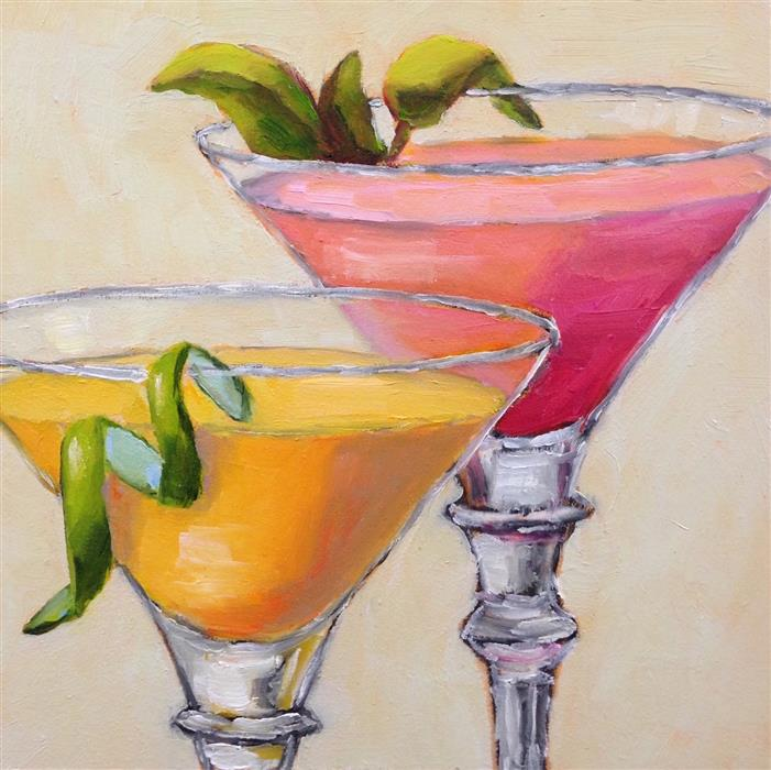 Original art for sale at UGallery.com | Happy Hour by Pat Doherty | $225 | oil painting | 6' h x 6' w | ..\art\oil-painting-Happy-Hour-65509