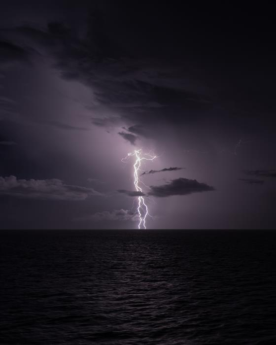 Original art for sale at UGallery.com | Lightning at Sea by William Dickman | $50 | photography | 20' h x 16' w | ..\art\photography-Lightning-at-Sea