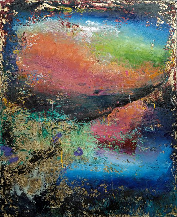 Original art for sale at UGallery.com | As the Sky Opened Up by Scott Dykema | $7,000 | mixed media artwork | 60' h x 48' w | ..\art\mixed-media-artwork-As-the-Sky-Opened-Up