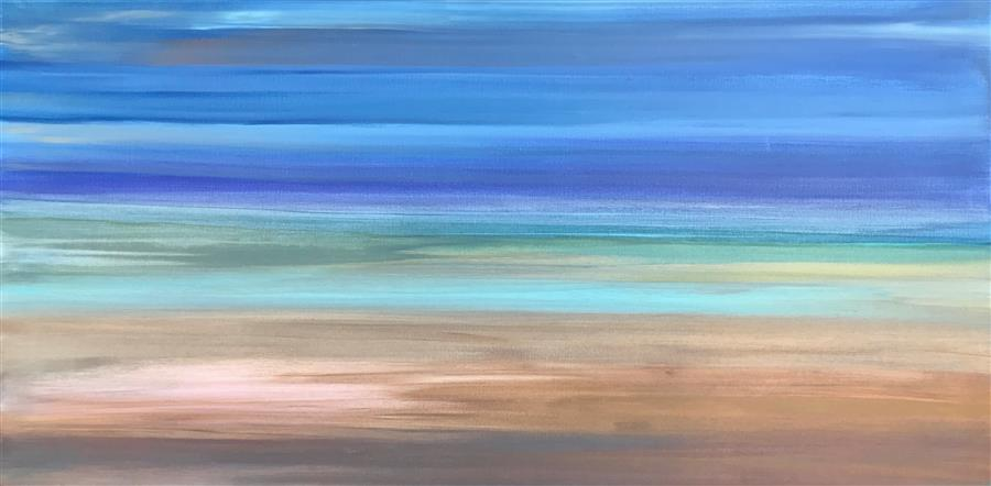 Original art for sale at UGallery.com | A Dream More Real than Life by ALICIA DUNN | $1,725 |  | 24' h x 48' w | ..\art\acrylic-painting-A-Dream-More-Real-than-Life