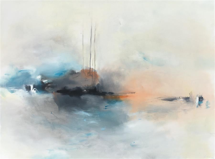 Original art for sale at UGallery.com | Let the River Decide by Nicholas Kriefall | $3,400 | oil painting | 36' h x 48' w | ..\art\oil-painting-Let-the-River-Decide