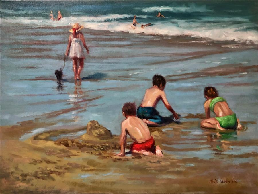 Original art for sale at UGallery.com | Outgoing Tide by Faye Vander Veer | $1,900 | oil painting | 18' h x 24' w | ..\art\oil-painting-Outgoing-Tide