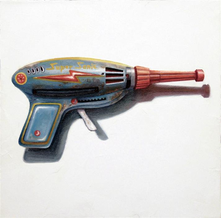 Original art for sale at UGallery.com | Pew! by Amber Allen | $500 | oil painting | 12' h x 12' w | ..\art\oil-painting-Pew