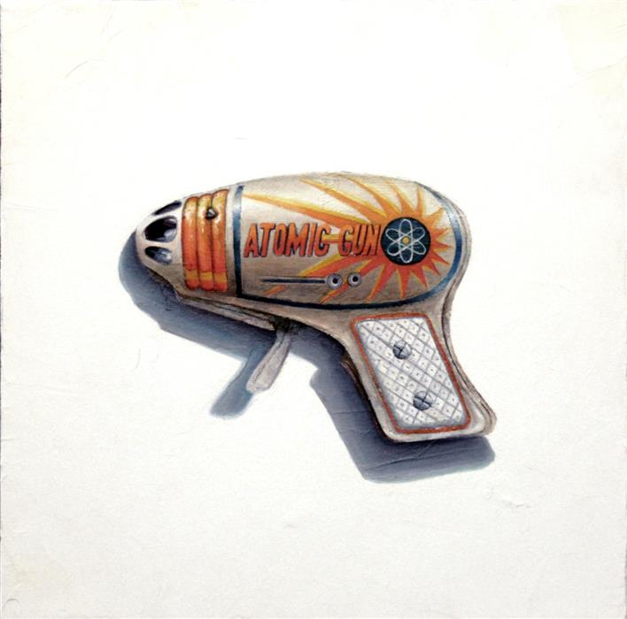 Original art for sale at UGallery.com | Pew Pew! by Amber Allen | $500 | oil painting | 12' h x 12' w | ..\art\oil-painting-Pew-Pew