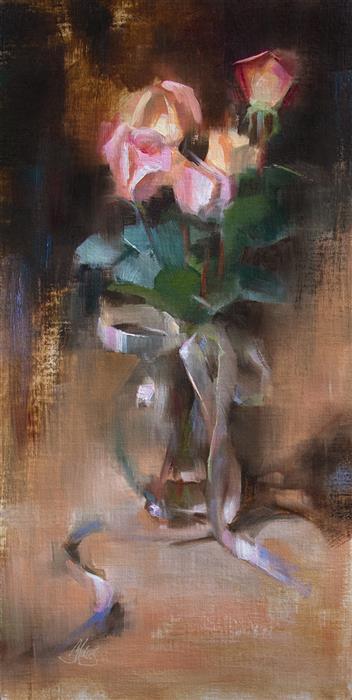 Original art for sale at UGallery.com | Sentimental by Pamela Blaies | $1,075 | oil painting | 20' h x 10' w | ..\art\oil-painting-Sentimental