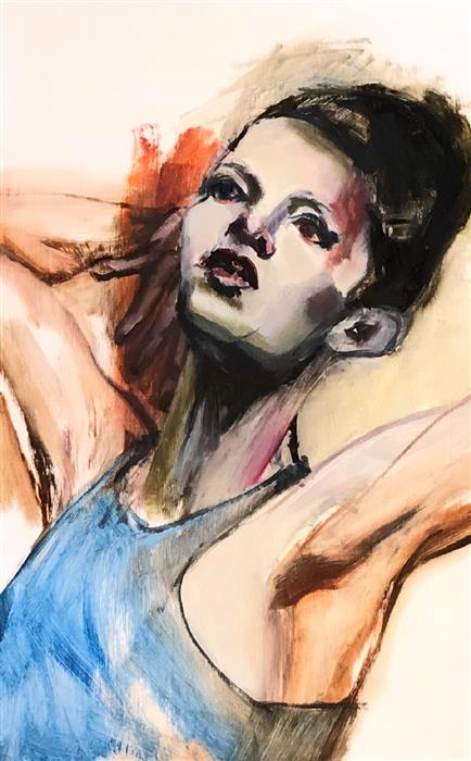 Original art for sale at UGallery.com | Glamour Shot by Liz Brozell | $325 | oil painting | 12' h x 9' w | ..\art\oil-painting-Glamour-Shot