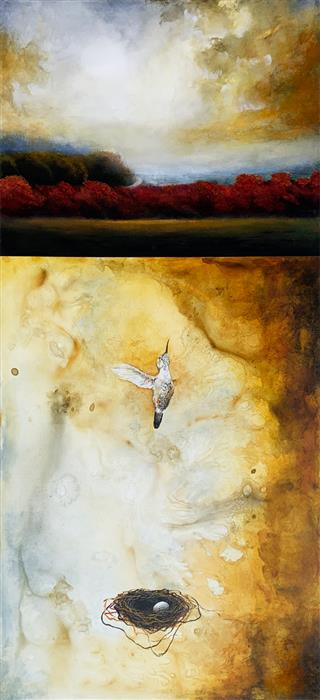 Original art for sale at UGallery.com   With Gold II by Candice Eisenfeld   $4,800   acrylic painting   52' h x 24' w   ..\art\acrylic-painting-With-Gold-II