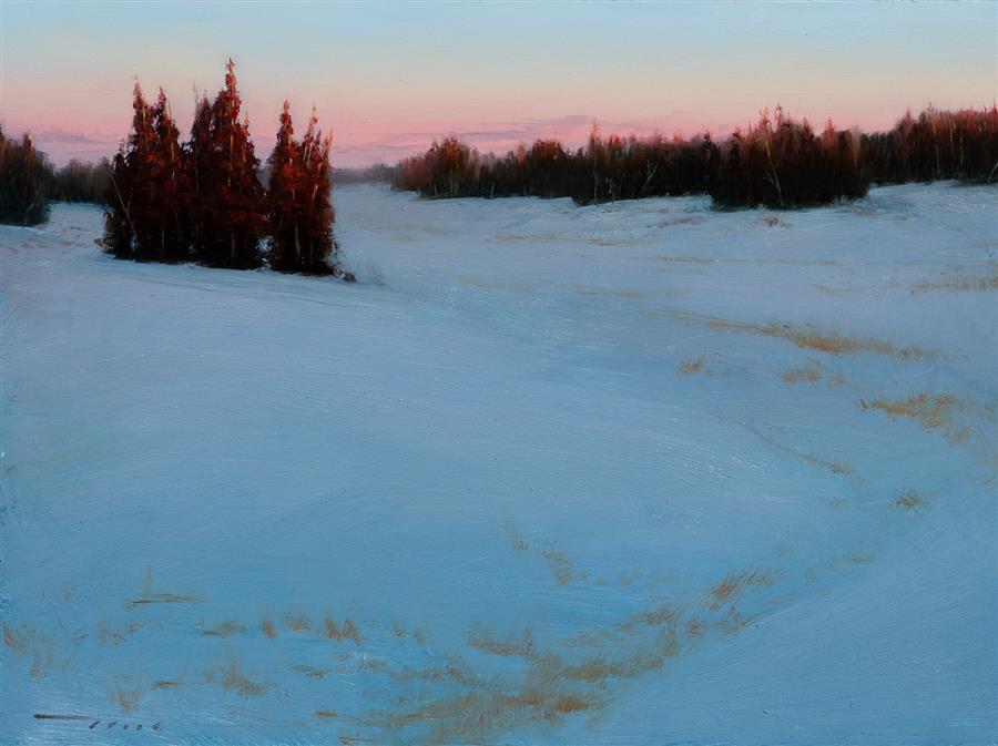 Original art for sale at UGallery.com | Snow Cedar Mountain Range by McGarren Flack | $1,900 | oil painting | 18' h x 24' w | ..\art\oil-painting-Snow-Cedar-Mountain-Range