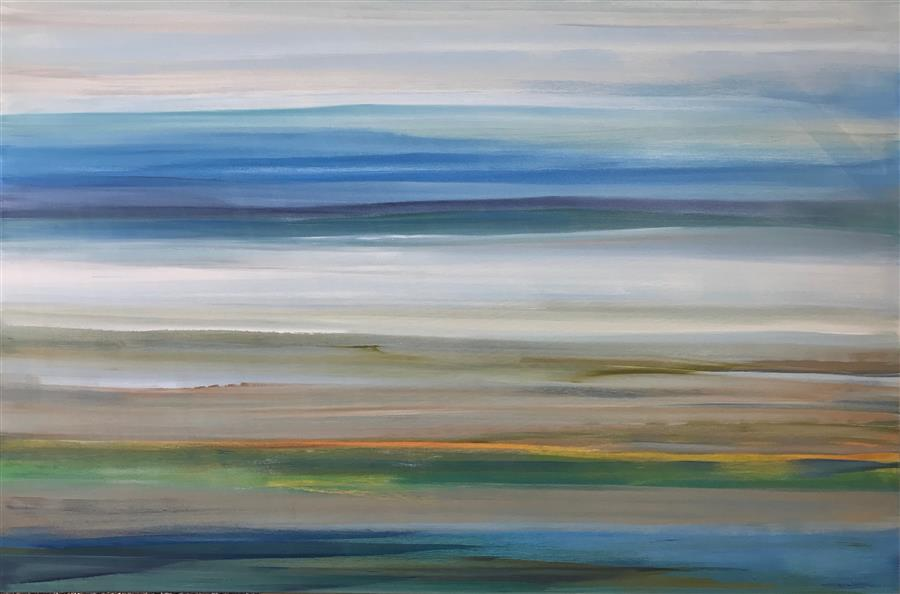 Original art for sale at UGallery.com | Between Dream and Daylight by ALICIA DUNN | $3,175 |  | 40' h x 60' w | ..\art\acrylic-painting-Between-Dream-and-Daylight