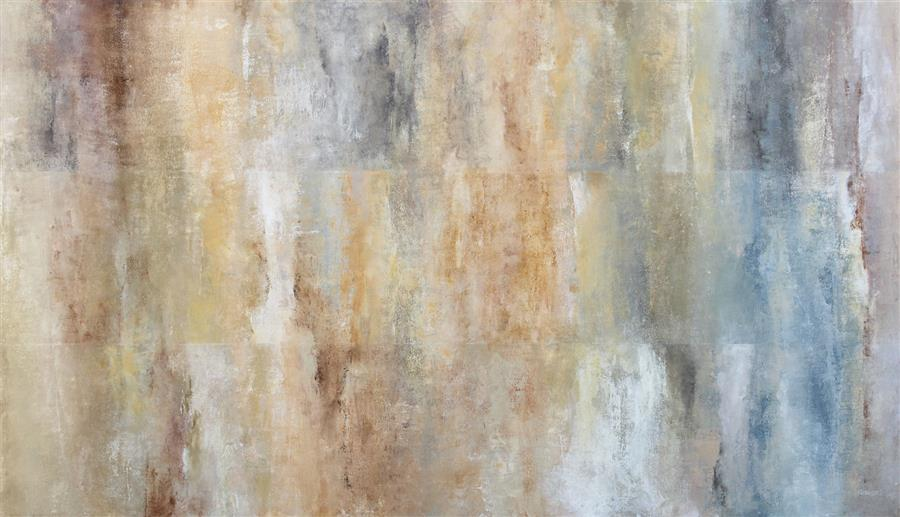 Original art for sale at UGallery.com | Lithos by Karen Hansen | $4,250 | acrylic painting | 30' h x 52' w | ..\art\acrylic-painting-Lithos