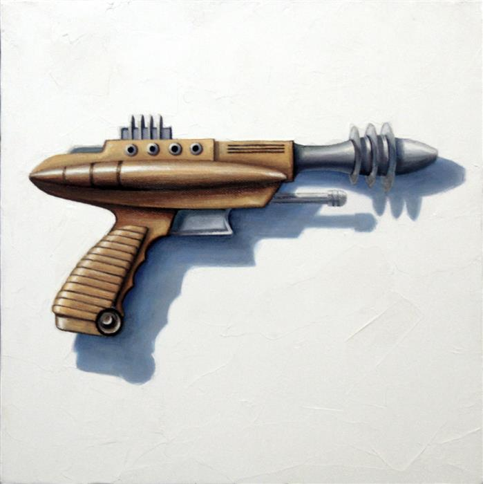 Original art for sale at UGallery.com | Pew Pew, Pew Pew Pew! by AMBER ALLEN | $500 |  | 12' h x 12' w | ..\art\oil-painting-Pew-Pew-Pew-Pew-Pew