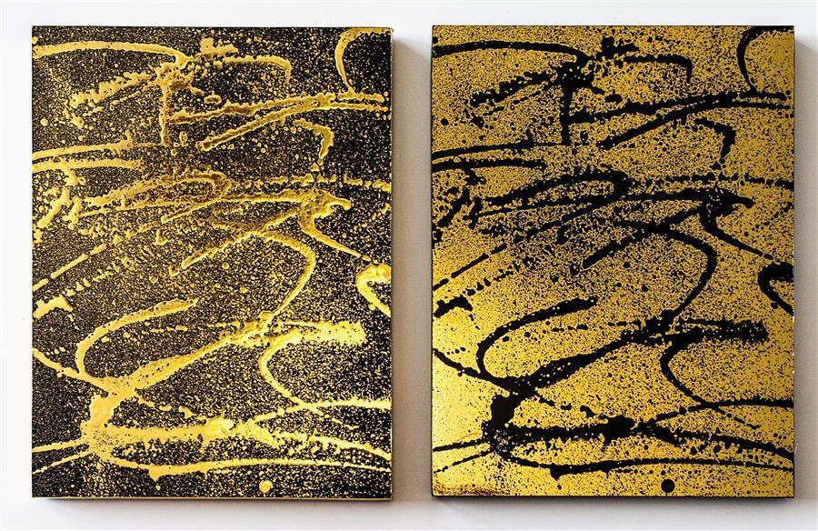 Original art for sale at UGallery.com | Confetti by M. Clark | $575 | mixed media artwork | 9.12' h x 15' w | ..\art\mixed-media-artwork-Confetti