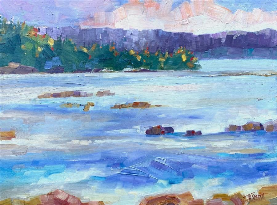 Original art for sale at UGallery.com | Tide Coming In by Teresa Smith | $550 | oil painting | 12' h x 16' w | ..\art\oil-painting-Tide-Coming-In-65882