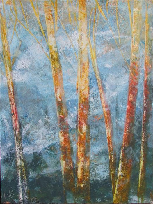 Original art for sale at UGallery.com | Bare Trees 3 by Valerie Berkely | $325 | oil painting | 14' h x 11' w | ..\art\oil-painting-Bare-Trees-3