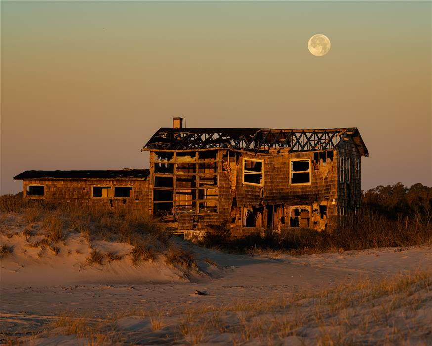 Original art for sale at UGallery.com | Clements House with Full Moon Behind by William Dickman | $25 | photography | 20' h x 16' w | ..\art\photography-Clements-House-with-Full-Moon-Behind