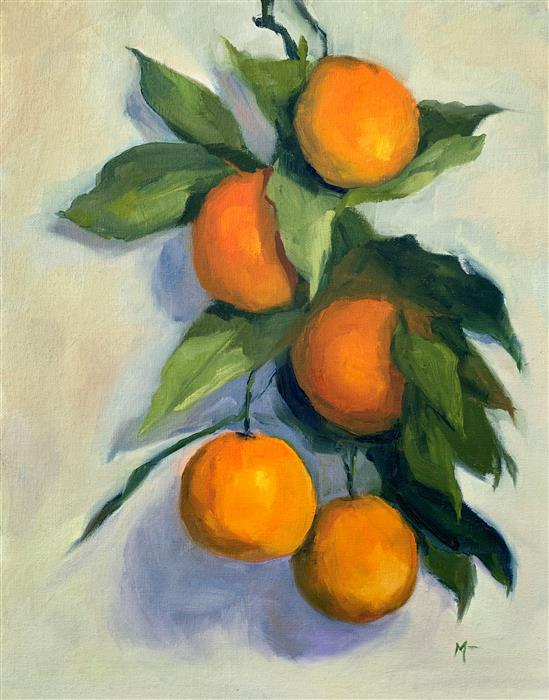 Original art for sale at UGallery.com | The Citrus Branch by Malia Pettit | $750 | oil painting | 14' h x 11' w | ..\art\oil-painting-The-Citrus-Branch