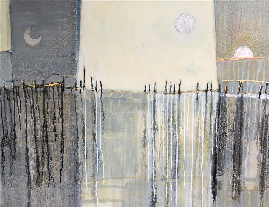 Original art for sale at UGallery.com | Moon Shine by Pat Forbes | $2,400 | acrylic painting | 36' h x 48' w | ..\art\acrylic-painting-Moon-Shine