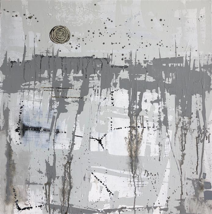 Original art for sale at UGallery.com | Hunter's Moon by Pat Forbes | $1,800 | acrylic painting | 36' h x 36' w | ..\art\acrylic-painting-Hunter-s-Moon