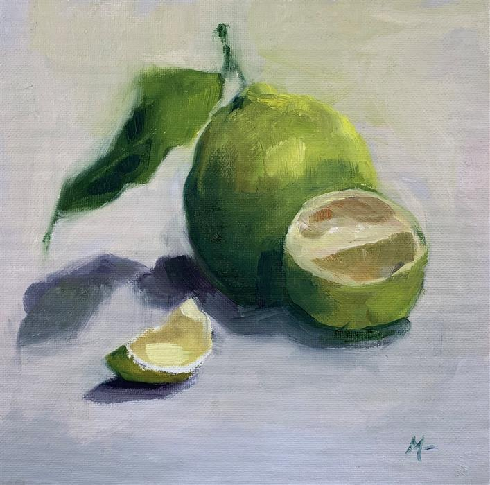 Original art for sale at UGallery.com | Summer Citrus by Malia Pettit | $225 | oil painting | 8' h x 8' w | ..\art\oil-painting-Summer-Citrus