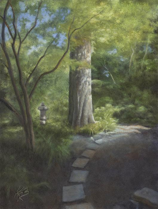 Original art for sale at UGallery.com | Strybing Monterey Cypress by Kevin Brown | $850 | oil painting | 18' h x 14' w | ..\art\oil-painting-Strybing-Monterey-Cypress