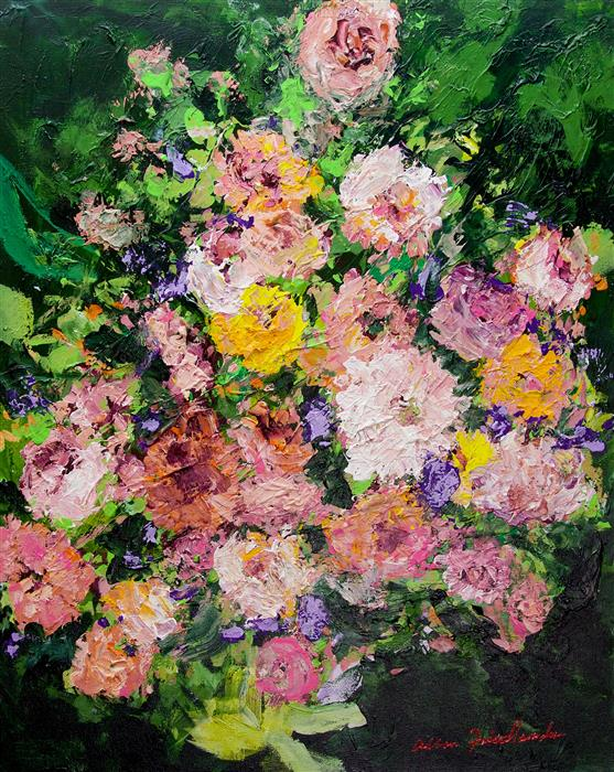 Original art for sale at UGallery.com | Heavenly Garden by Allan P. Friedlander | $1,175 | acrylic painting | 30' h x 24' w | ..\art\acrylic-painting-Heavenly-Garden