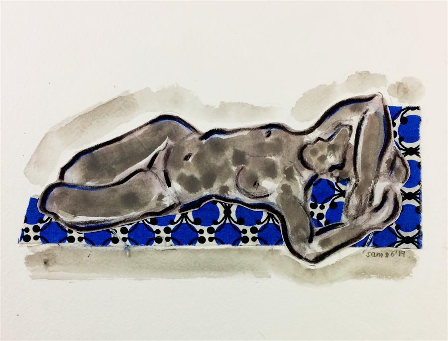 Original art for sale at UGallery.com   Drawing #6 by Samuray Akarvardar   $250   mixed media artwork   8' h x 10' w   ..\art\mixed-media-artwork-Drawing-6