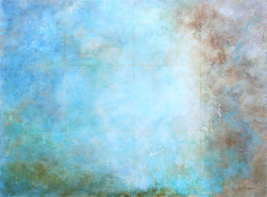 Original art for sale at UGallery.com | Seven Bits & Everything Else by Karen Hansen | $3,025 | acrylic painting | 30' h x 40' w | ..\art\acrylic-painting-Seven-Bits-Everything-Else