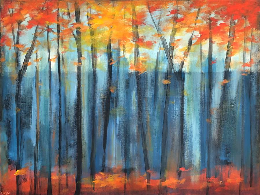 Original art for sale at UGallery.com | A Season of Color by Drew Noel Marin | $2,575 | acrylic painting | 30' h x 40' w | ..\art\acrylic-painting-A-Season-of-Color
