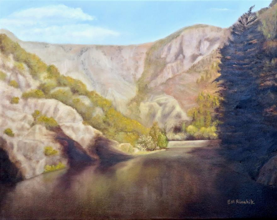 Original art for sale at UGallery.com | Gunnison Afternoon by Eugene Rinchik | $550 | oil painting | 16' h x 20' w | ..\art\oil-painting-Gunnison-Afternoon