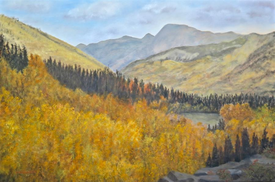 Original art for sale at UGallery.com | Southern Colorado Autumn by Eugene Rinchik | $900 | oil painting | 24' h x 36' w | ..\art\oil-painting-Southern-Colorado-Autumn
